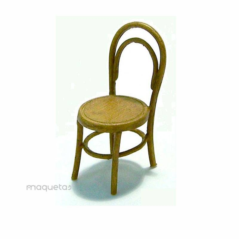 Kit 2 sillas de madera - Para Maquetar - Miniatura 1:35 - Plus Model EL017