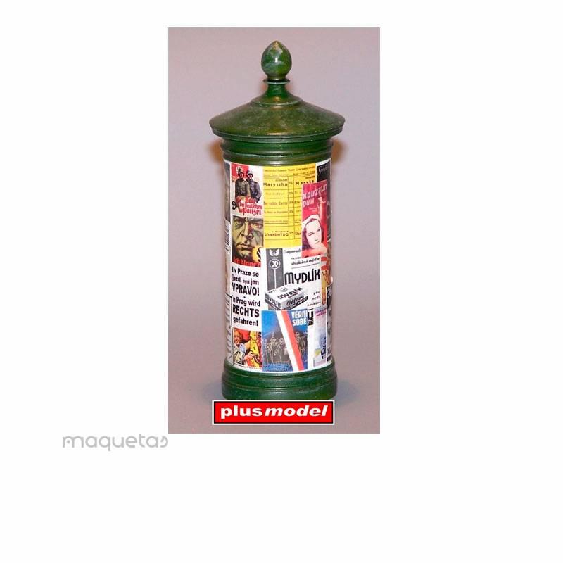 Kit columna de publicidad - Para Maquetar - Miniatura 1:35 - Plus Model 310