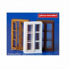 Kit de tres ventanas - Para Maquetar - Miniatura 1:35 - Plus Model 184
