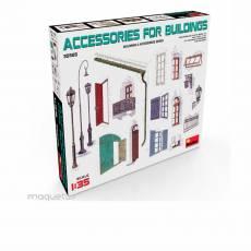Kit conjunto de accesorios para edificios - Para Maquetar - Miniatura 1:35 - MiniArt 35585