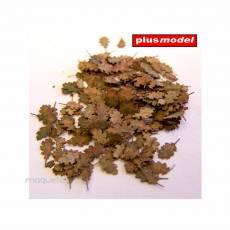 Hojas de roble secas - Para Maquetar - Miniatura 1:35 - Plus Model 287