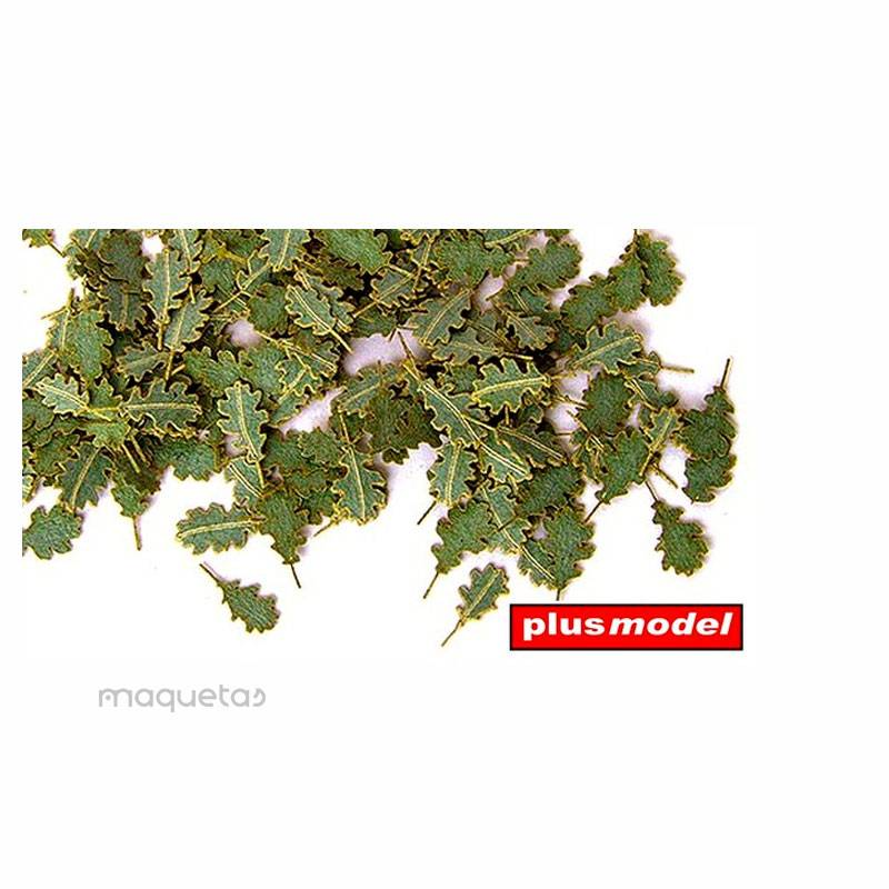 Hojas de roble verdes - Para Maquetar - Miniatura 1:35 - Plus Model 252