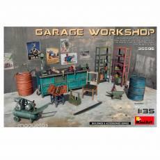 Kit taller en garage - Para Maquetar - Miniatura 1:35 - MiniArt 35596