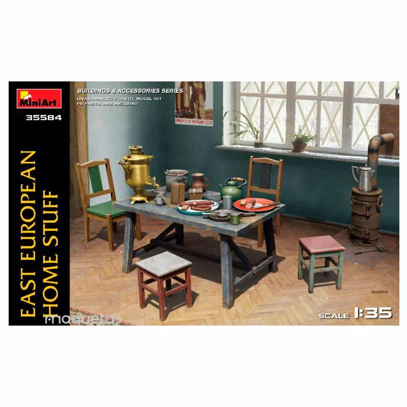 Kit conjunto de piezas para escena de casa - Para Maquetar - Miniatura 1:35 - MiniArt 35584