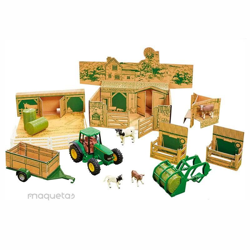 Juego de granja en caja John Deere - Juguete - Britains 43257