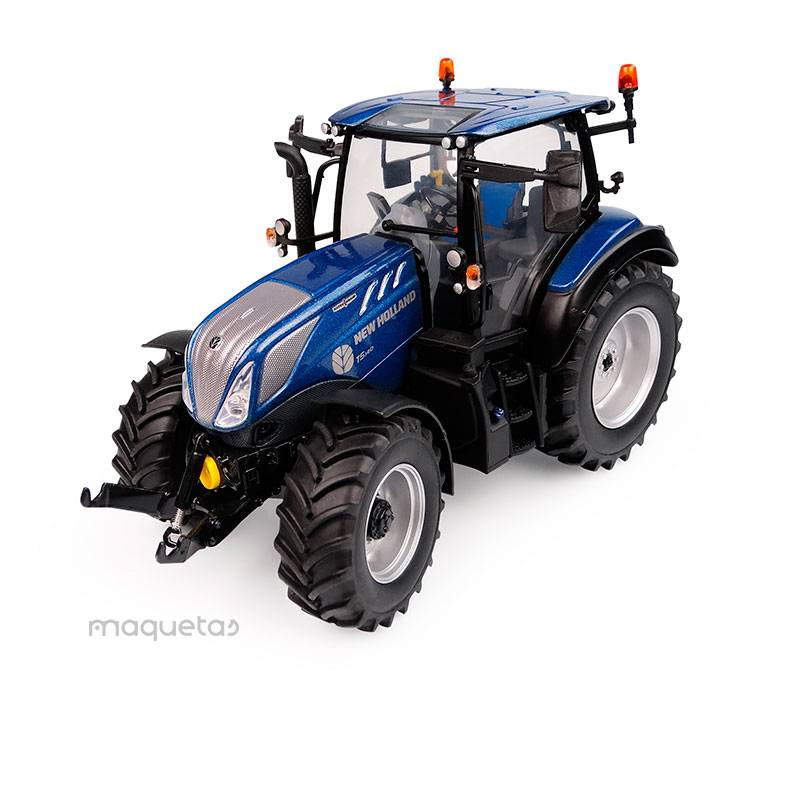 Tractor New Holland T5.140 Blue Power - Visión panoramica - Miniatura 1:32 - UH 6223
