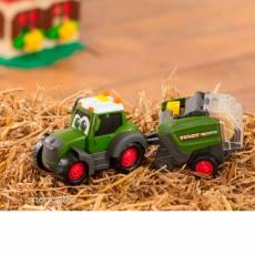Tractor happy Fendt con rotoempacadora - juguete - Dickie Toys 3815001