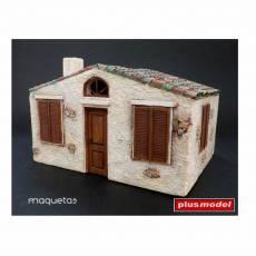 Kit casa estilo italiano - Para Maquetar - Miniatura 1:35 - Plus Model 099