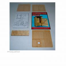 Kit WC de madera - Para Maquetar - Miniatura 1:35 - Plus Model 263