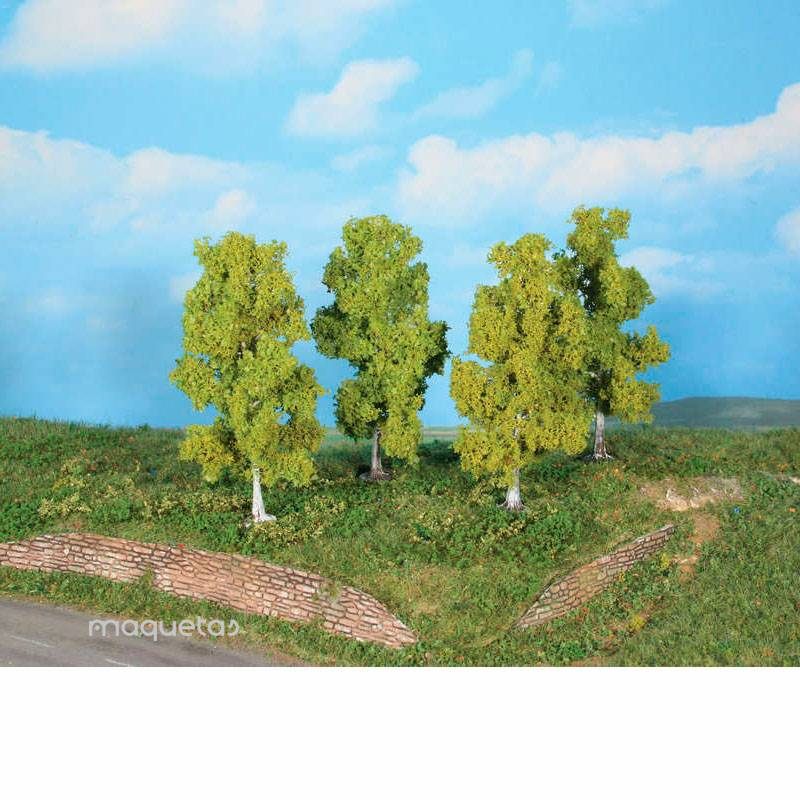 4 Abedules de 11 cm - Miniatura Heki 19120