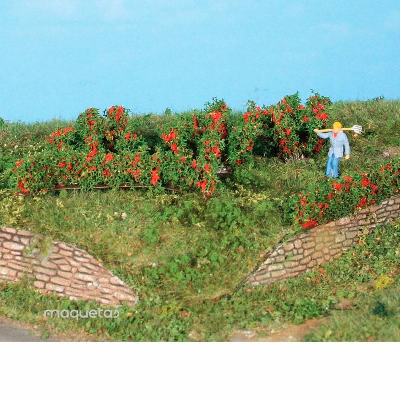10 Setos de rosas y arbustos de 0.7 a 3 cm - Miniatura Heki 19125