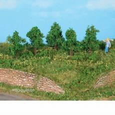 5 Árboles  de hoja caduca de 4 cm - Miniatura Heki 19130
