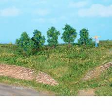 5 Ciruelos de 4 cm - Miniatura Heki 19132