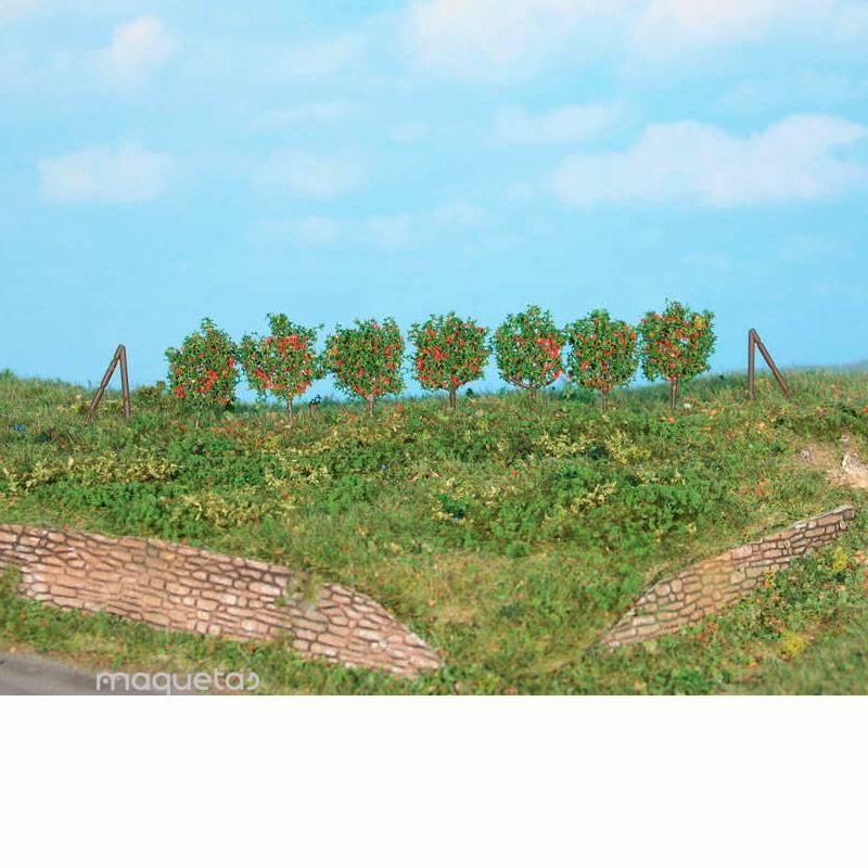 Espaldera de frutales con 60 piezas de aproximadamente 2.5 cm con poste de sujeción - Miniatura Heki 19135