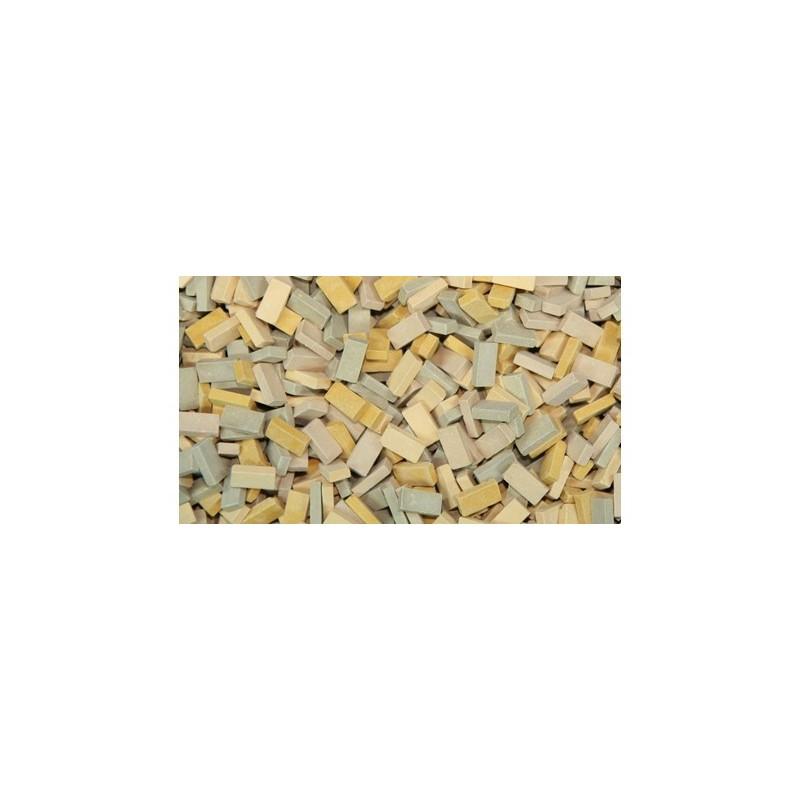 LADRILLOS en tonos beige mezclados - cerámica 500 uds. - Miniatura 1:32 / 1:35 - Juweela 23053