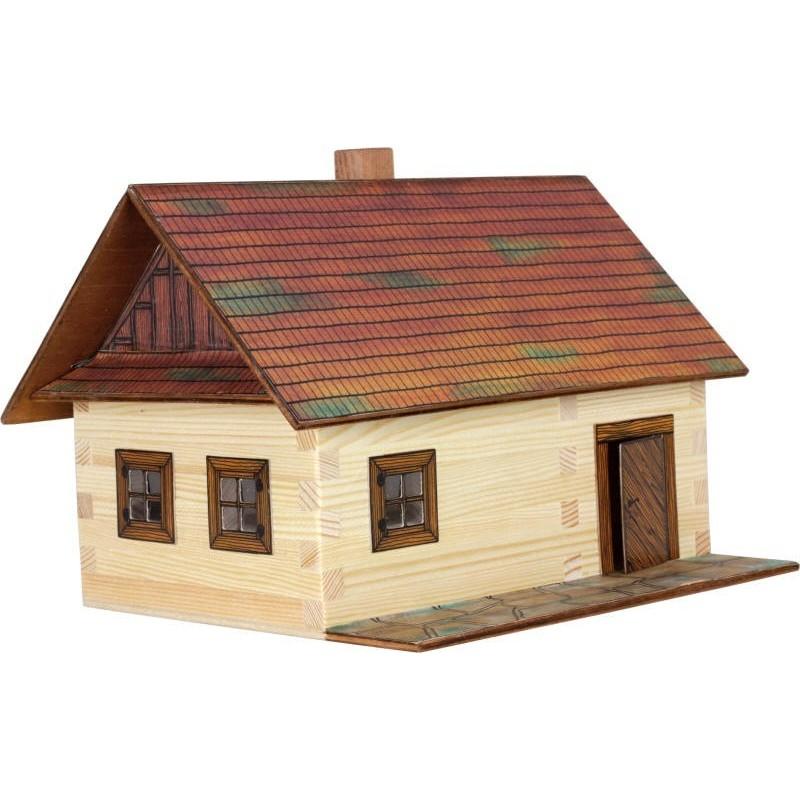 Casa rural de madera para construir miniatura 1 32 - Casa rural de madera ...