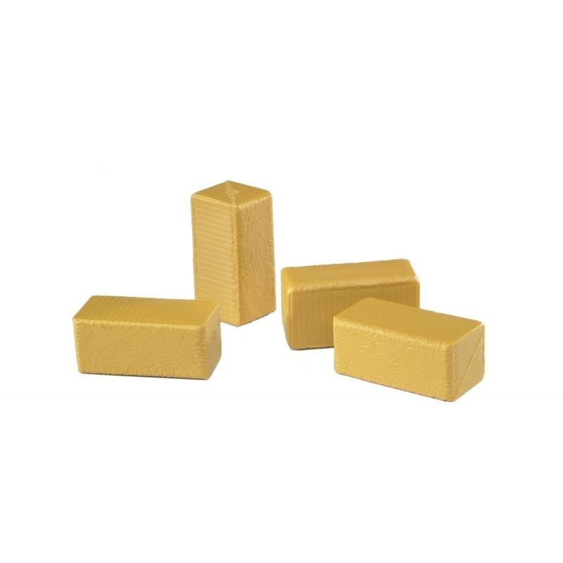 4 BALAS de heno rectangulares  - Miniatura 1:16 - Bruder 02342