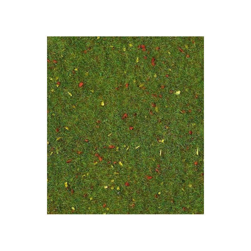 Alfombra de HIERBA prado de flores 75x100 cm - Miniatura Heki 30921