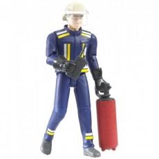 BOMBERO CON ACCESORIOS - Miniatura 1:16 - Bruder 60100