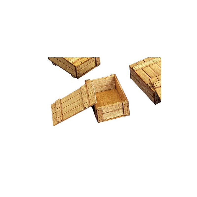 Kit 6 cajas de madera - Para Maquetar - Miniatura 1:35 - Plus Model 261 - 6797261