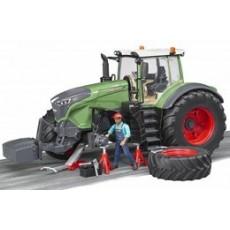 Tractor FENDT 1050 con ruedas desmontables y mecánico - Miniatura 1:16 - Bruder 04041