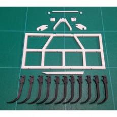 KIT GRADA de 11 brazos fijos - Miniaturas 1:32 para montar- Artisan 01416