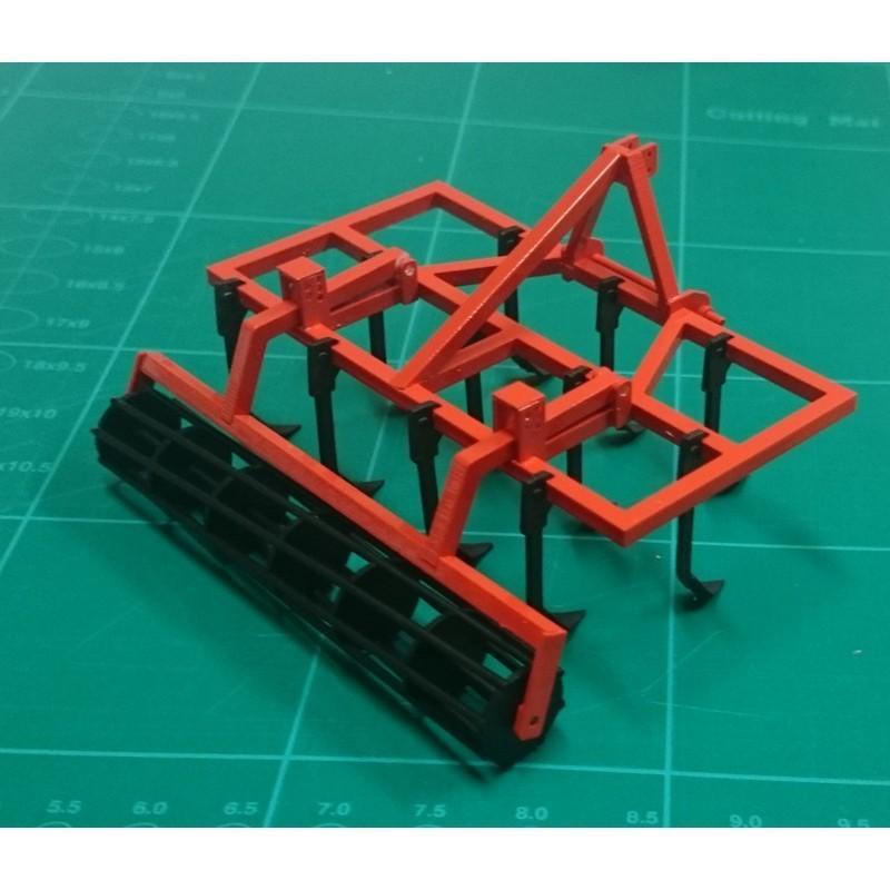 KIT GRADA brazo fijo (01416) con RODILLO de jaula completo de 3m (01413) - Miniaturas 1:32 para montar - Artisan 01417