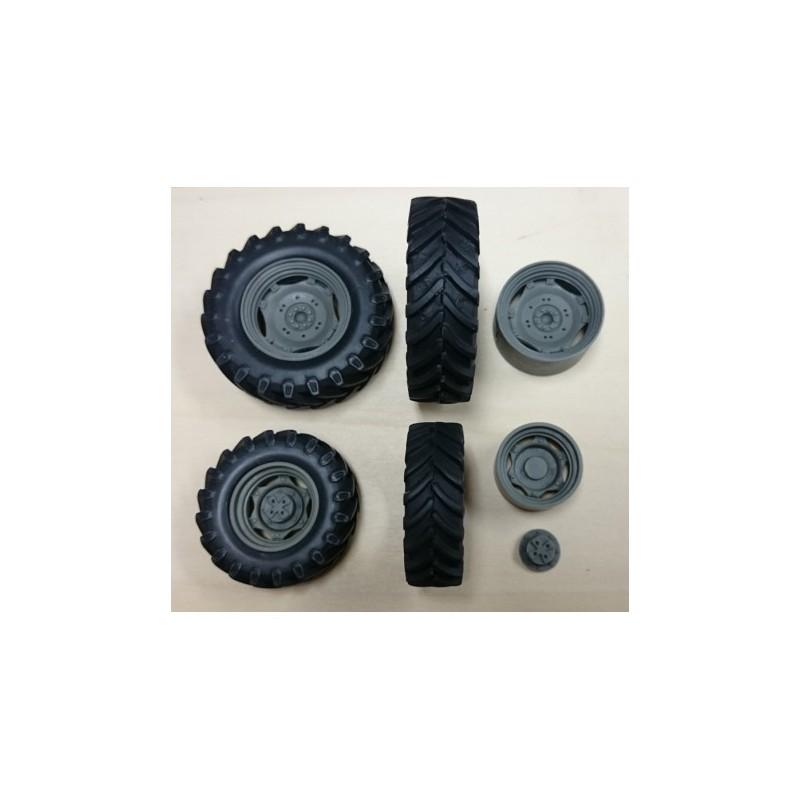 Juego 4 RUEDAS para tractor AV + ARR 03 - Miniaturas 1:32 - Artisan 04261