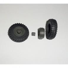 Par RUEDAS INDUSTRIALES de 35.5x10 mm - Miniaturas 1:32 - Artisan 04221