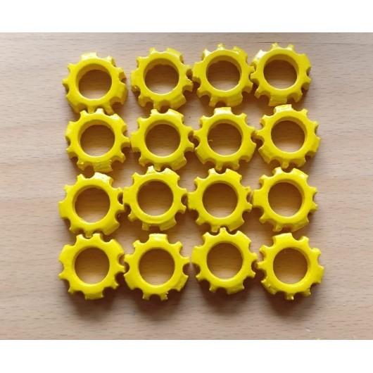 PAR DE CONTRAPESOS PARA JOHN DEERE amarillo - Miniatura 1:32 - Artesanía AL001
