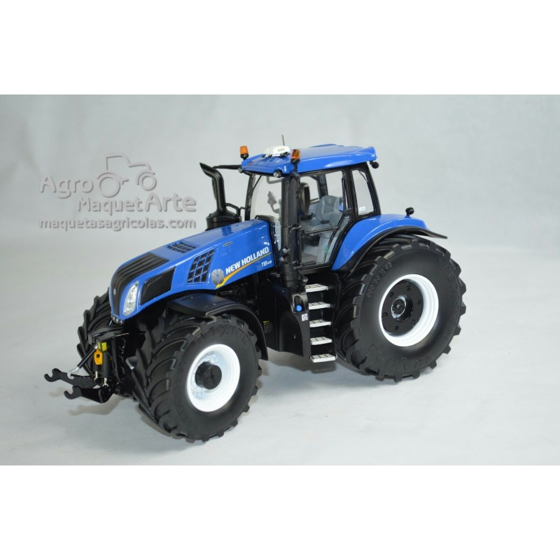 Tractor New Holland T8.435 Blue con ruedas Vredestein - Miniatura 1:32 - 72FMMM001