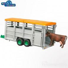 Remolque Ganadero con vaca - Miniatura 1:16 - Bruder 02227