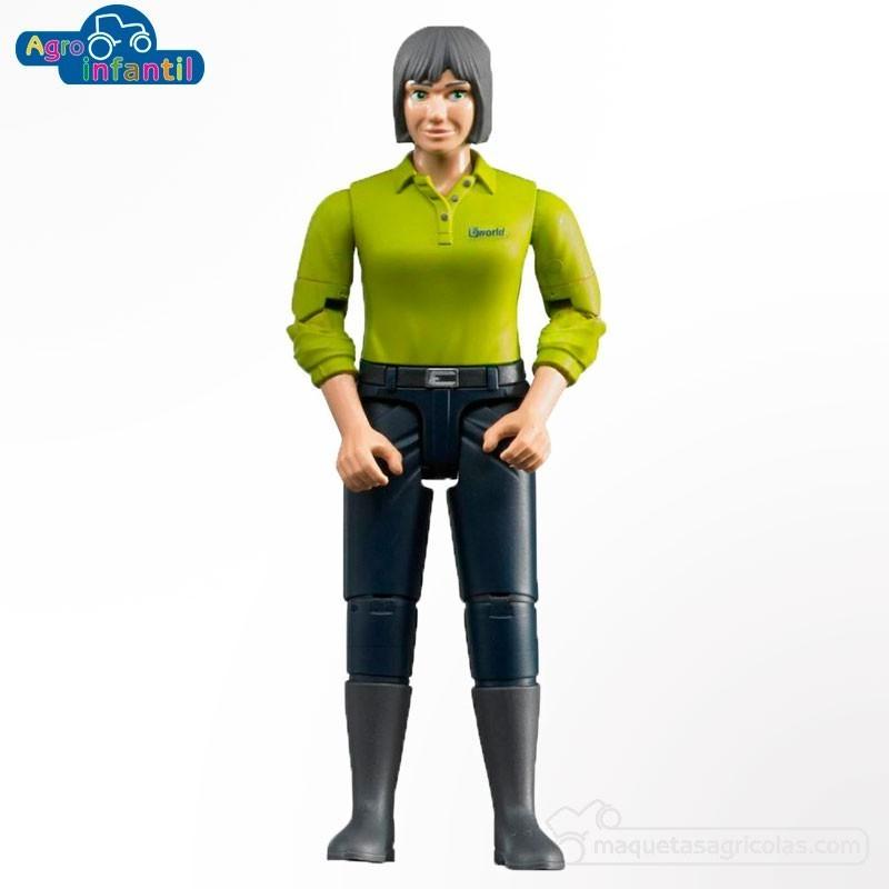 Mujer con pantalón oscuro - Miniatura 1:16 - Bruder 60405