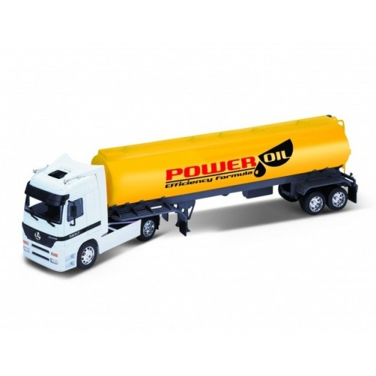 Camión MERCEDES-BENZ Actros con tanque para gasoil - Miniatura 1:32 - Welly 32282P