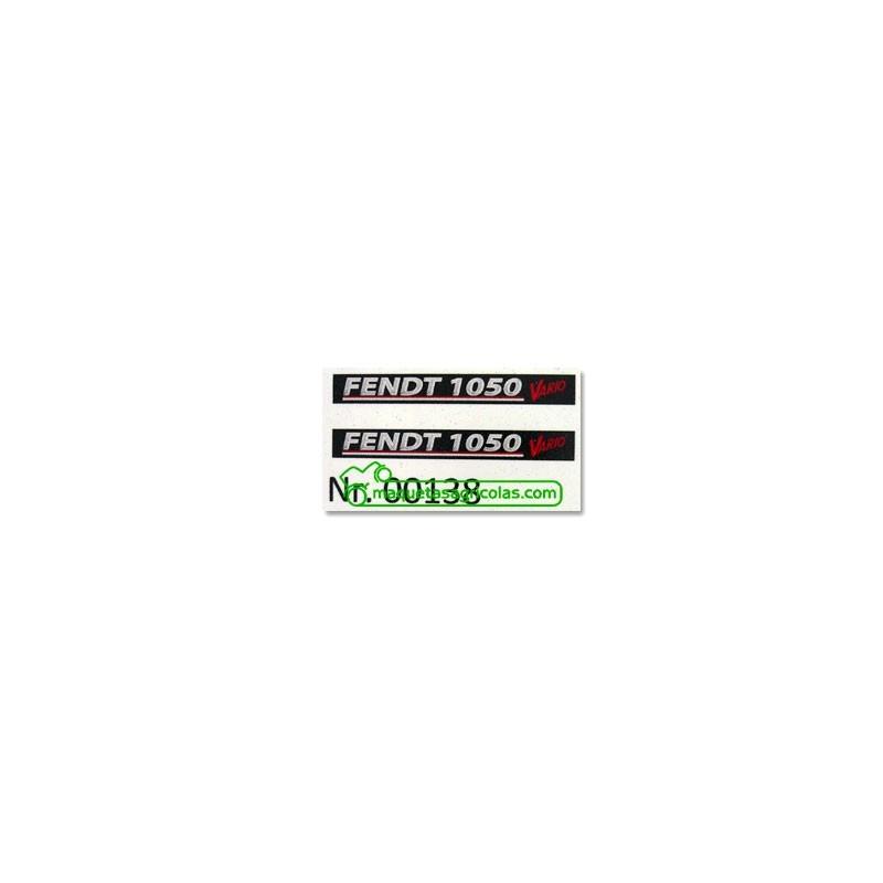 Pegatina Black Beauty FENDT 1050 - Miniatura 1:32 - FM 00138