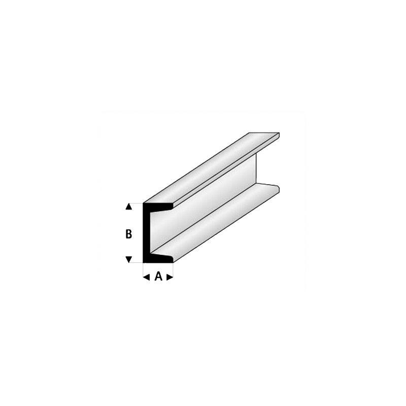 U de ESTIRENO 33 cm de longitud (Lote de 3) - Elige las medidas que quieras - Artisan 2412