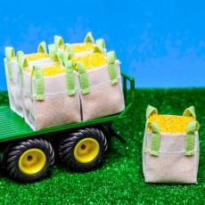 Conjunto 2 Big Bag con maíz ejemplo 1