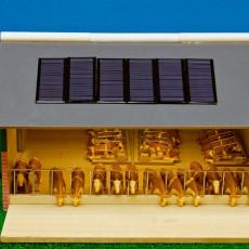 Conjunto de 8 paneles solares sugerencia uso