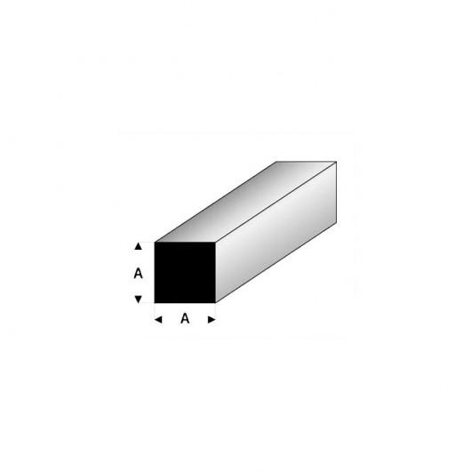 Perfil cuadrado macizo de estireno 33 cm de longitud (Lote de 3) - Elige las medidas que quieras - Artisan 2407