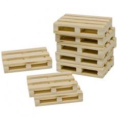 Conjunto de 8 palets de madera