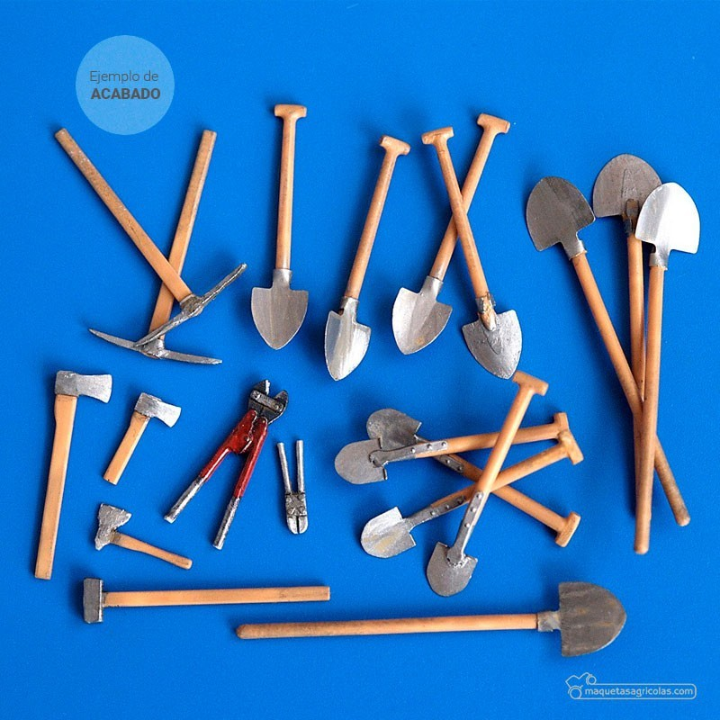 Kit de juego de herramientas agrícolas acabado