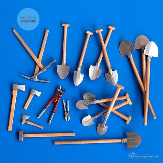 Kit de juego de herramientas agrícolas - Para Maquetar - Miniatura 1:35 - Plus Model 192