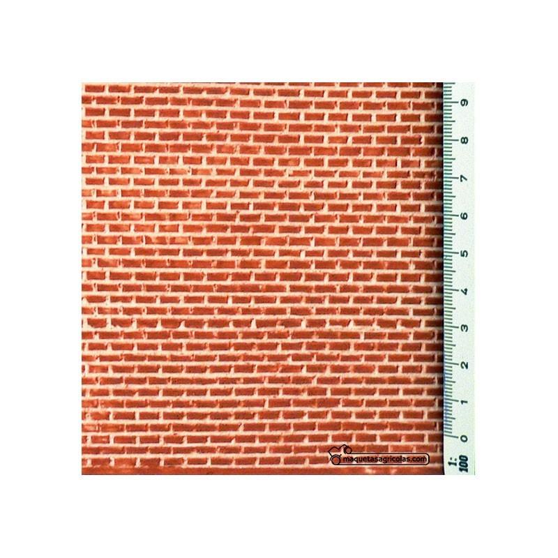 Ladrillo viejo estándar - 335 x 134 mm - Textura adhesiva 1:32 - Redutex 032LV112
