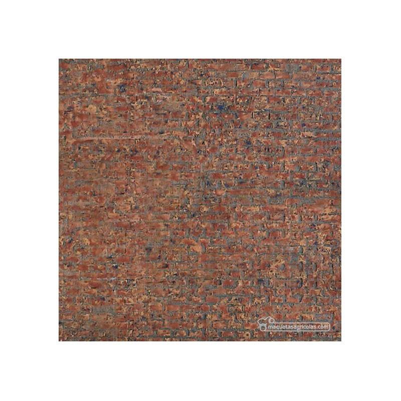 Ladrillos Viejos II policromados - 335 x 134 mm - Textura adhesiva 1:32 - 032LV723