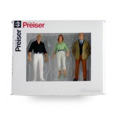 Transeúntes jóvenes (2 hombres y 1 mujer) - Miniatura 1:32 - Presier 63069 caja