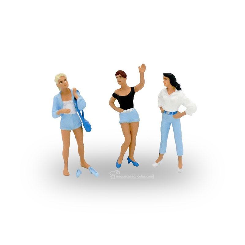 3 chicas jóvenes - Miniatura 1:32 - Presier 63070