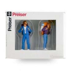 Excursionistas con mochila (hombre y mujer) - Miniatura 1:32 - Presier 63072 caja