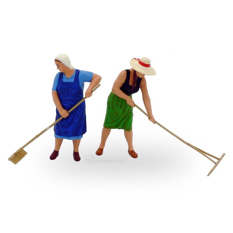 Campesinas con rastrillo ( 2 mujeres) - Miniatura 1:32 - Presier 63075