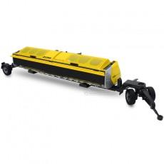Cabezal para biomasa Zürn Proficut 700 con carro - Miniatura 1:32 - Wiking 077838 montado en carro