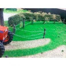 Kit palos y alambre de pinchos para crear cercado nº2 - de 1 a 1.5 m - Artisan 04802 uso en diorama
